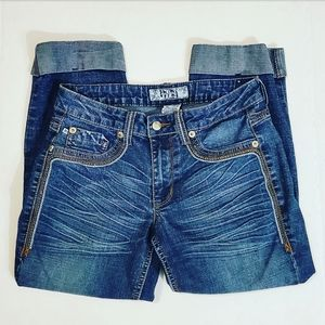 17/21 Exclusive Denim Womens Cuffed Ankle Jeans•6